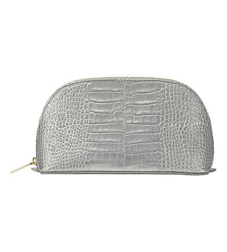 SMYTHSON Mara leather cosmetics case (Silver