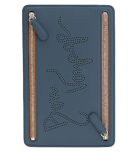 SMYTHSON Piccadilly currency case (Storm+blue