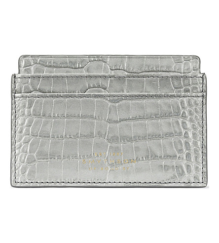 SMYTHSON Mara leather card holder (Silver