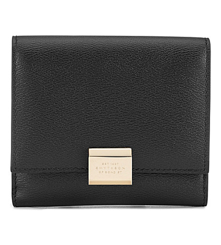 SMYTHSON Grosvenor French leather purse (Black