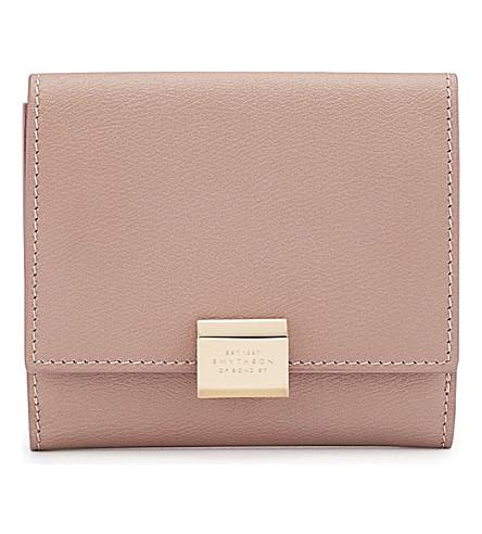 SMYTHSON Grosvenor French leather purse (Oyster