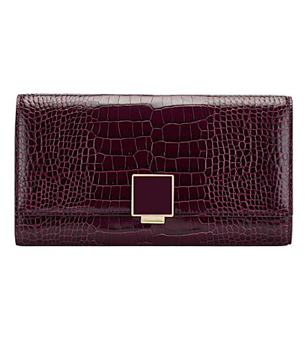 SMYTHSON Mara leather housekeeper purse (Winter+berry