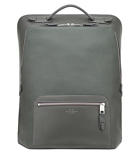 SMYTHSON Greenwich large backpack (Granite
