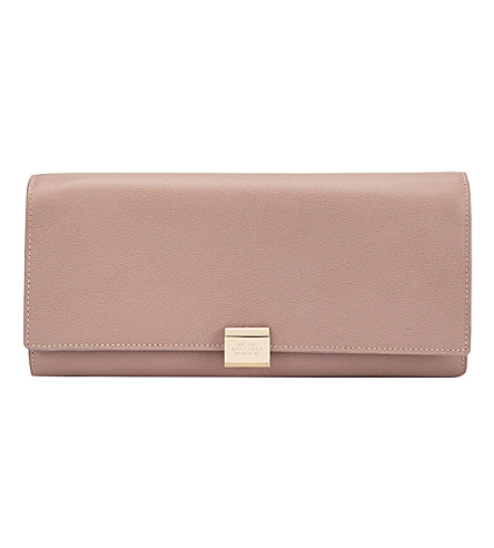 SMYTHSON Grosvenor large leather jewellery roll (Oyster