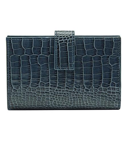SMYTHSON Mara Continental leather purse (Storm+blue