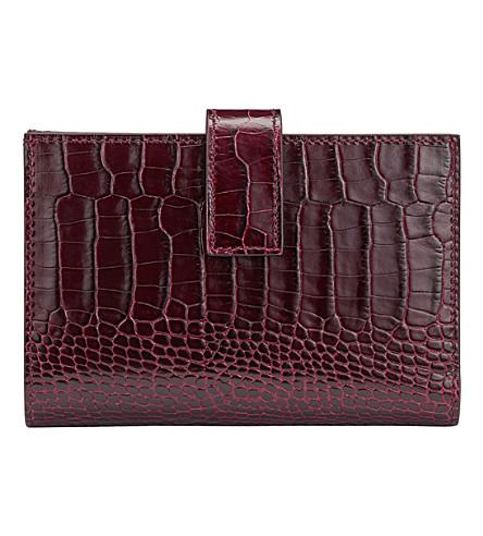 SMYTHSON Mara Continental leather purse (Winter+berry