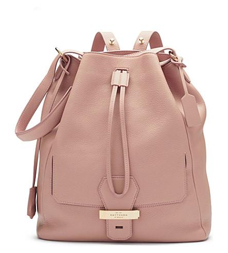 SMYTHSON Berkeley leather backpack (Oyster