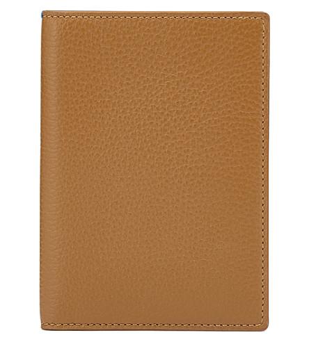 SMYTHSON Burlington leather passport cover (Imperial+yellow