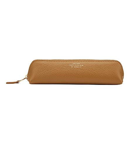 SMYTHSON Burlington leather pencil case (Imperial+yellow