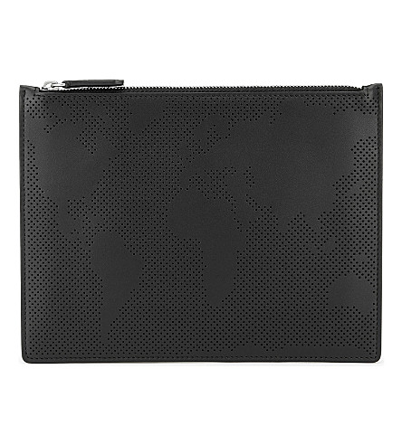 SMYTHSON Piccadilly medium pouch (Black