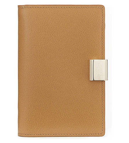 SMYTHSON Grosvenor leather jotter (Imperial+yellow