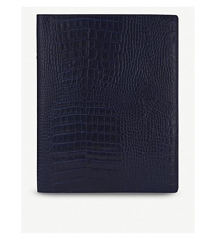 SMYTHSON Mara A4 writing folder (Navy