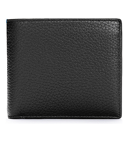 SMYTHSON Burlington leather card and coin wallet (Black