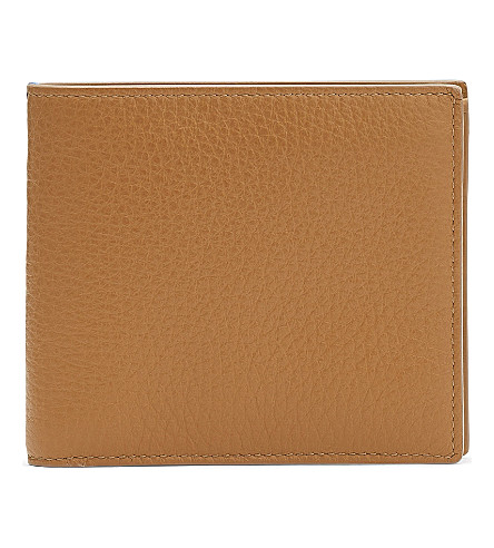 SMYTHSON Burlington leather card and coin wallet (Imperial+yellow