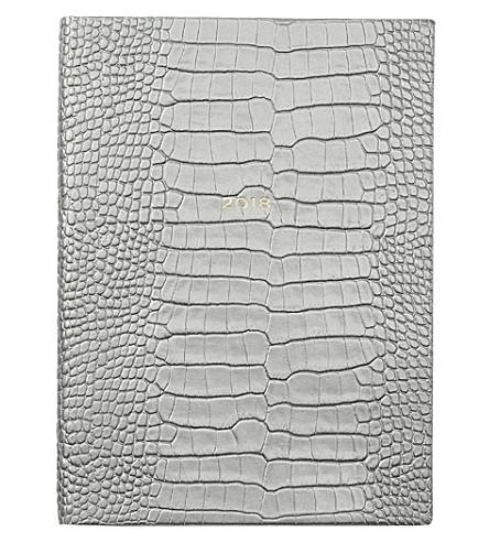 SMYTHSON Soho 2018 leather diary 19cm (Silver