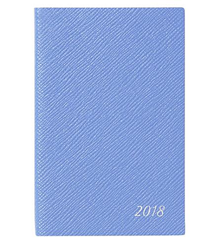 SMYTHSON Panama 2018 leather diary 14cm (Nile+blue