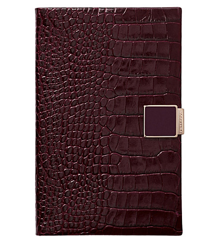 SMYTHSON Panama 2017/18 mid-year leather diary (Winter+berry