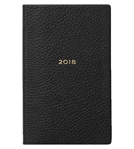 SMYTHSON 2018 Panama leather diary (Black
