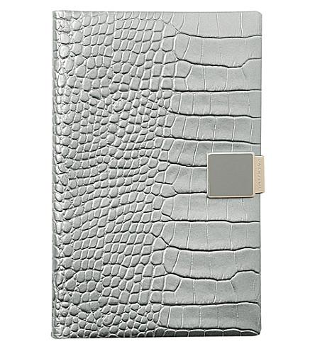 SMYTHSON Panama 2018 leather diary 14cm (Silver