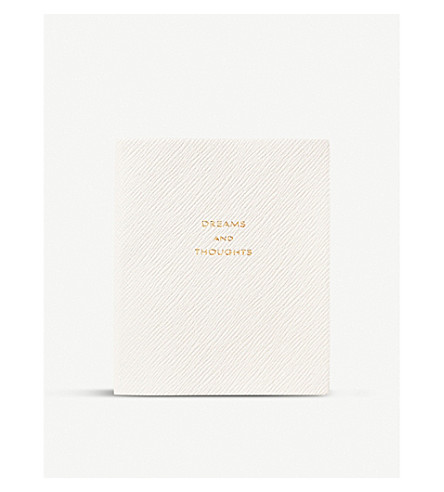 SMYTHSON Dreams and thoughts premier notebook 13.5cm (White