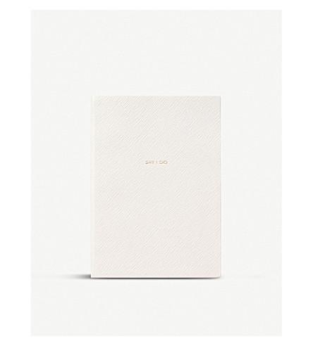 SMYTHSON Say I Do leather wedding planner 19cm (White