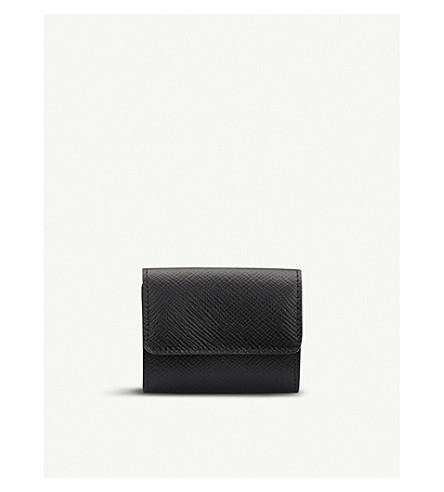 SMYTHSON Panama leather coin purse (Black