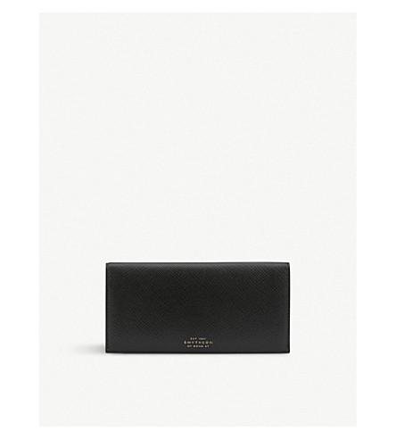 SMYTHSON Panama calf leather slim coat wallet (Black
