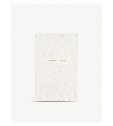 SMYTHSON Panama Mummy to Be leather notebook (White