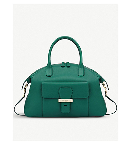 SMYTHSON Berkeley Business leather tote bag (Palm+green