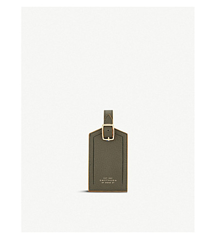 SMYTHSON Burlington luggage tag (Olive