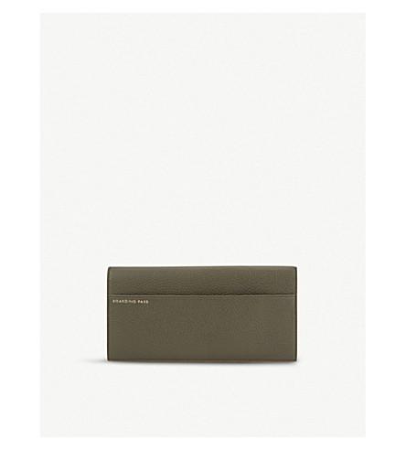 SMYTHSON Burlington leather travel wallet (Olive