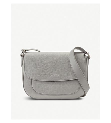 SMYTHSON Burlington leather saddle bag (Cold+grey
