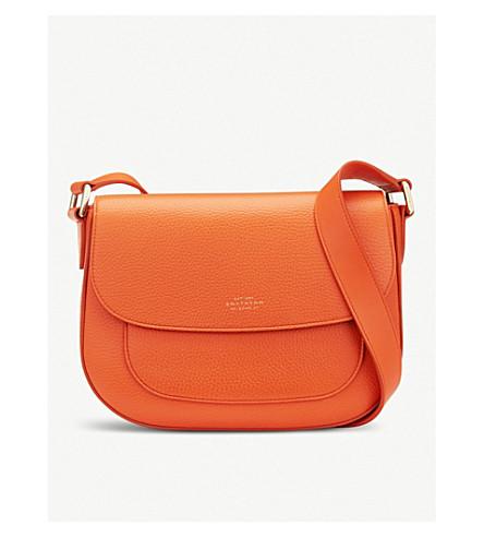 SMYTHSON Burlington leather saddle bag (Papaya