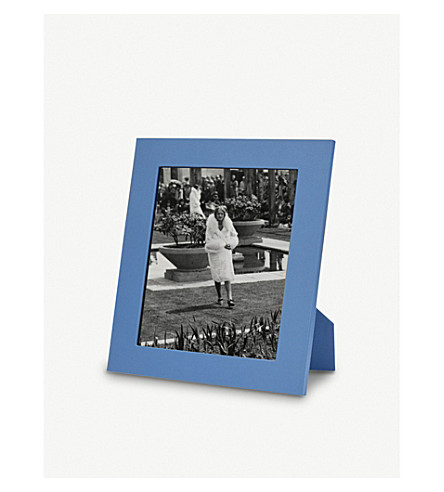 "SMYTHSON Grosvenor leather photo frame 8x10"" (Nile+blue"