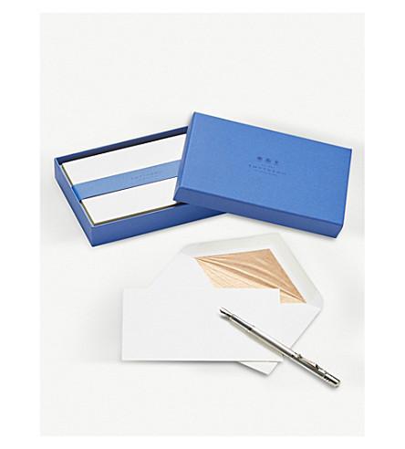 SMYTHSON Bordered correspondence cards box of 10 (Gold