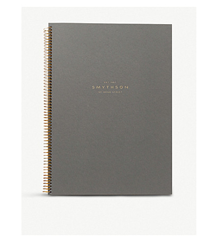 SMYTHSON A4 spiral-bound writing pad 29cm (Pale+blue