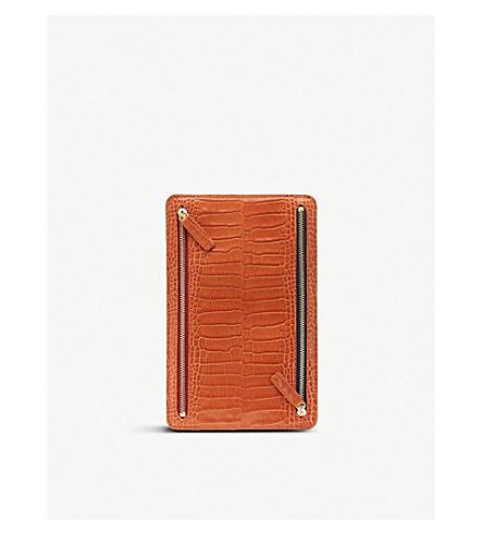 SMYTHSON Mara leather currency case (Papaya