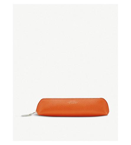 SMYTHSON Panama leather pencil case (Papaya