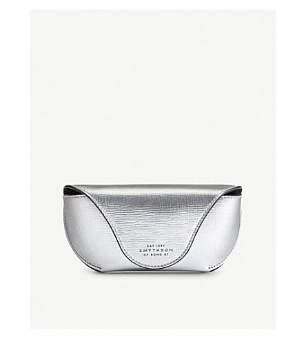 SMYTHSON Panama leather sunglasses case (Silver