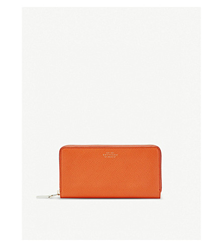 SMYTHSON Panama leather purse (Papaya