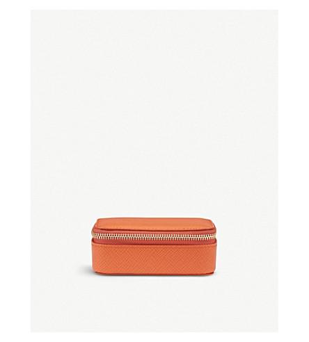 SMYTHSON Panama leather trinket case (Papaya