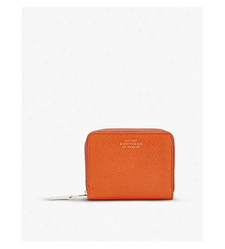 SMYTHSON Panama leather coin purse (Papaya