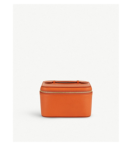 SMYTHSON Panama mini leather jewellery case (Papaya