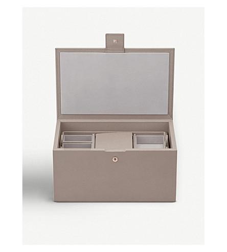 SMYTHSON Grosvenor leather keepsake box (Dove+grey