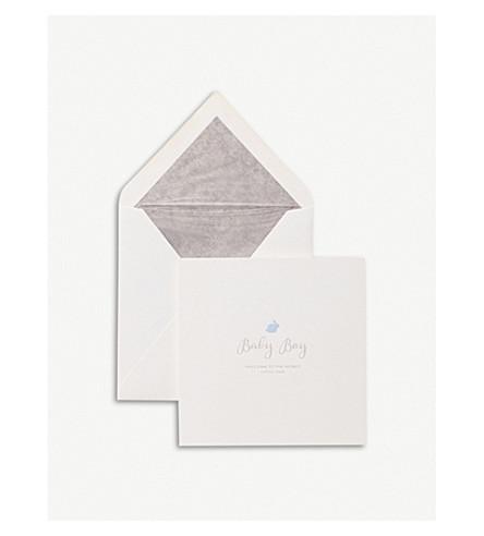 SMYTHSON Baby Boy rabbit card (White