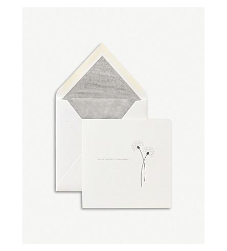 SMYTHSON With Sympathy card (White