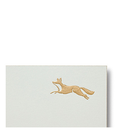SMYTHSON Fox correspondence cards 10 pack (White