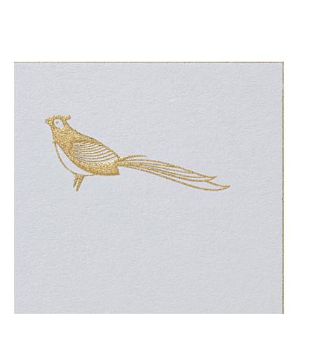 SMYTHSON Pheasant correspondence cards 10 pack (White