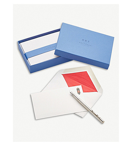 SMYTHSON Royal Guard correspondence cards box of 10 (White