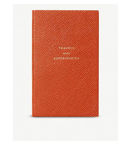 SMYTHSON Panama Travel and experiences leather notebook 14cm (Papaya
